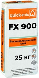 Quick-Mix Высокоэластичный плиточный клей с очень высокой адгезией FX 900, белый, 25 кг