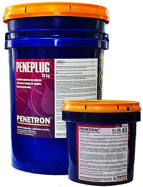 Пенетрон Проникающая гидроизоляция ПЕНЕПЛАГ - мгновенная ликвидация напорных течей