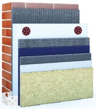 Quick-Mix Штукатурная система утепление фасада дома пенополистиролом LOBATHERM-М., кв.м.